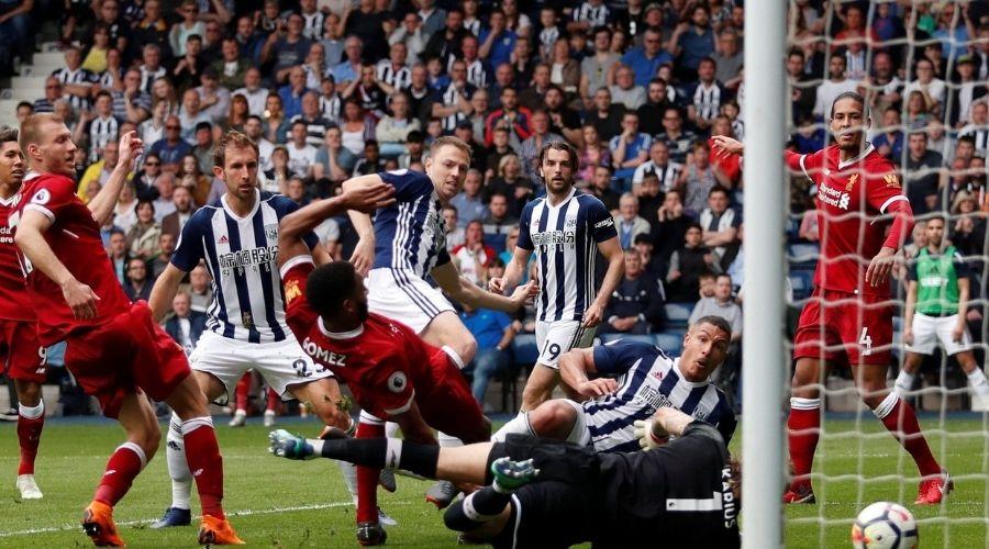Thành tích đối đầu giữa Liverpool vs West Brom