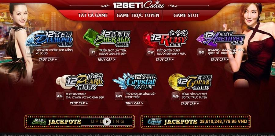 Hệ thống casino online đa thể loại