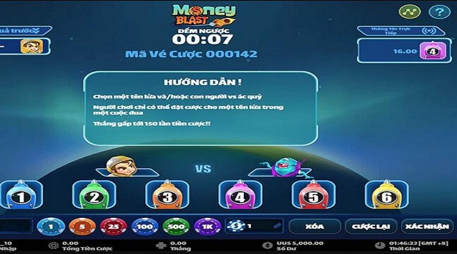 Money Blast tại VN88 có cách đặt cược đa dạng